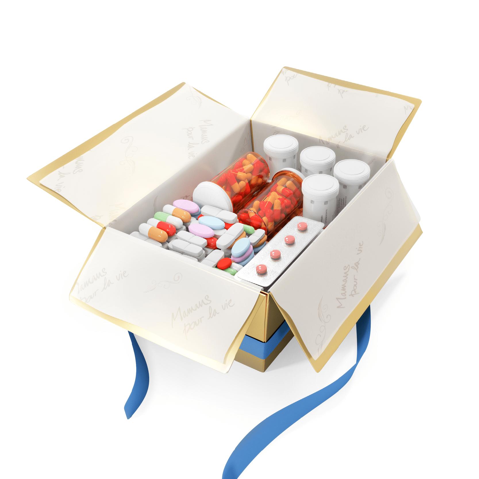 Une boîte de médicaments, 25€