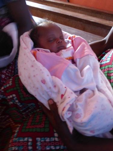 bébé au centre de santé